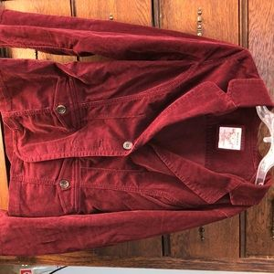 Women's Red Sonoma Corduroy Dress Coat